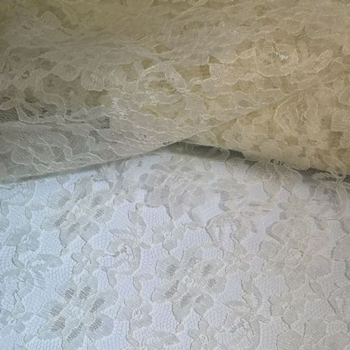 Ivory Lace Fabric 54""